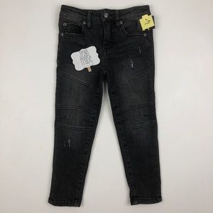NWT Boy's Charcoal Moto Jeans